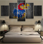 5 Pieces Kansas Jayhawks Painting Printed On Canvas Wall Art Picture Home Décor