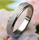 Lady 3.5mm Elegant Galaxy Stardust Stainless Steel Ring Size 5.5,6.5,8,9,10.5