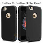 Shockproof Armor TPU Rubber Ultra Thin Hard Case Cover for Apple iPhone 5S 5 SE