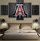 5 Pieces Arizona Wildcats Painting Printed Canvas Wall Art Picture Home Décor
