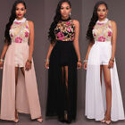 Womens Long Lace Chiffon Evening Formal Party Ball Gown Prom Brides Dress New