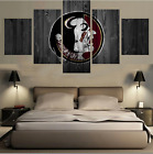 5Pcs Florida State Seminoles Painting Printed Canvas Wall Art Picture Home Décor