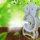 Portable Handheld Misting Cooler Fan USB Rechargable Humidifier Fr Home Office