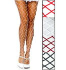 Leg Avenue 9005 Women's Pantyhose Spandex Diamond Fence Net Reg Black or White