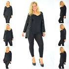 New Womens Cardigan Plus Size Ladies Foil Strip Open Front Jacket Sale Nouvelle