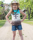 Cowgirl Tuff Girl's Victory Cross Cream and Chocolate Dip Dye Tank 100126  SALE! $25.99 USD on eBay