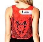 63 Cute Red ML Crochet Knit Boho Style Popular Fashion Trend Casual Shrug Vest