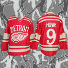 Red Mens 2014 Winter Classic Detroit Red Wings Gordie Howe 9 Hockey Jersey