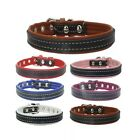 DOG COLLAR XS X SMALL PUPPY ADJUSTABLE CHIHUAHUA LEATHER PUG SMALL FRENCH