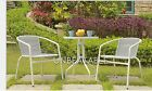 PE Rattan Bistro Set 2 Chair and Dining Table Garden Furniture Outdoor Curved