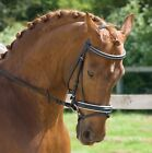 Rhinegold German Leather Swarovski Crystal Horse Bridle With Flash Noseband Rein