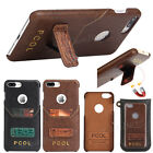 Luxury PU Leather Card Case Kickstand Back Cover For Apple iPhone 6 6S 7 Plus