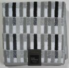 Geometric Striped Bath Towels Black/Gray/White Hotel Vendome Your choice New