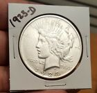 1923-D Peace Silver Dollar $$ Great Grade , No Reserve,  Free Shipping  For Sale