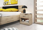 Bedside Table 1D Cabinet Night Stand SanRemo Organizer Storage Full Open Drawers
