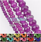 Colorful Coated Rondelle Faceted Czech Glass Loose Spacer Beads 4mm 6mm 8mm 10mm