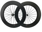 Carbon road bike light Wheelset 700C 88mm Tubular Carbon Fiber Wheels