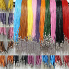 Wholesale 10/100pcs Real Leather Cord Necklace with Lobster Clasp Charms 2mm
