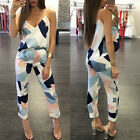 2pc Set Summer Women's Casual Printed SleevelessCamisole Crop Tops + Long Pants