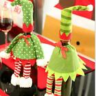 Christmas Red Wine Bottle Sets Cover Bags Elf Champagne Xmas Home Decoration S