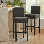 Prim Backed Fabric Barstools (Set of 2)