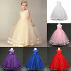 Flower Girl Princess Dress Wedding Bridesmaid Dress Party Tutu Dresses 3-14Years