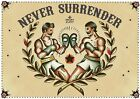 Never Surrender by Susana Alonso Old School Boxer Tattoo Canvas Fine Art Print