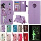 Flip Leather W/Strap Wallet Card Luminous Case Cover For LG LS775/G6/X Power