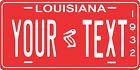 Louisiana 1932 License Plate Personalized Custom Car Bike Motorcycle Moped Tag