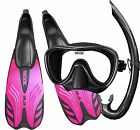 Seac Ladies Snorkel Set - Silicone Mask Snorkel and Performance Fins Flippers