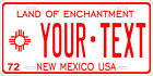 New Mexico 1972 License Plate Personalized Custom Auto Bike Motorcycle Moped