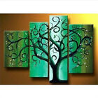 4PC HAND-PAINTED MODERN ABSTRACT TREE HUGE WALL ART OIL PAINTING CANVAS FRAMED