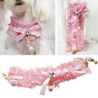 Pet Puppy Cat Dog Lace Pearl Pendant Princess Collar Necklace Bowknot Accessory