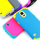 For Samsung Galaxy S5 Shockproof Armor Hybrid Rubber Matte Hard Case Cover