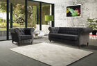 New Belgravia Chesterfield In Chenille Dark Grey 3 2 1 Seater Sofa