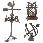 Cast Iron Decorative Garden Ornaments Sun Dial, Weather Vane, Umbrella Stand