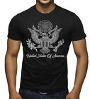 New United States Seal Men's Black T Shirt American Pride America USA Eagle US image