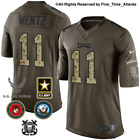 Carson Wentz Philadelphia Eagles Olive Salute to Service Military Camo Jersey