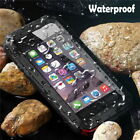 Waterproof Alloy Metal Shockproof Case Cover Tempered Glass For iPhone & Samsung