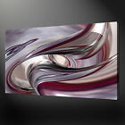 PURPLE CHROME ABSTRACT MODERN DESIGN WALL ART CANVAS PRINT PICTURE READY TO HANG