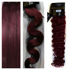 """AAA 15-36"""" Real Soft Weft Human Hair Extensions Straight Wavy Curly #Fantasy Red"""