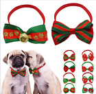 Xmas Small Pet Dog Cat Bow Ties Christmas Puppy Collars Grooming Accessories