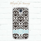 Personalized monogram black damask case for Samsung Galaxy S8+ S7 S6 edge+ dm017