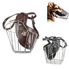 Steel Wire Dog Muzzle No Bark Bite Pet Puppy Mask Stop Chewing Mouth Cage Cover