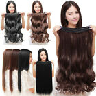 100% Natural Lady 3/4 Full Head Clip In Hair Extensions Curly Straight Wavy D1B0