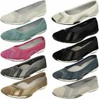 Ladies Down To Earth Slip On Ballerina Shoes