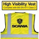 SCANIA Trucks High Visibility Hi Viz HV Vest Yellow, VARIOUS Sizes, BREAKDOWN