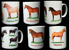 HORSE & PONY MUGS...EXMOOR, HIGHLAND, WELSH MOUNTAIN, PALOMINO, CLEVELAND, SHIRE