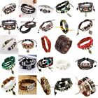 Cool Men Women Bracelet Leather Bohemian style Bangle Charm Cuff Jewelry Hot