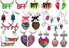 NWT Justice Girls Best Friends BFF Mother Daughter Sisters 2p 3pc Necklace Sets